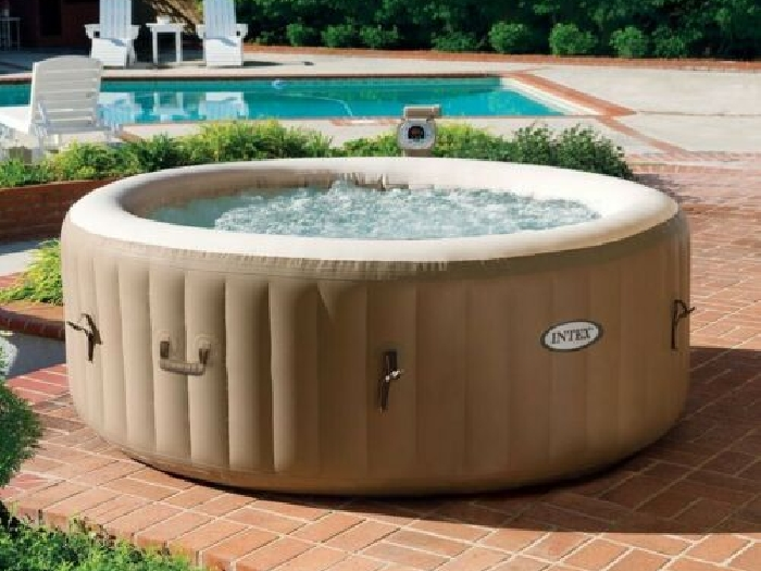 Hydromassage Jacuzzi gonflable Intex 28426 ex 28404 Bubble spa rond 196x71