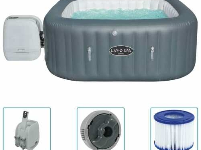 Bestway Cuve Thermale Gonflable Lay-Z-Spa Baignoire Spa Bain Hydromassant