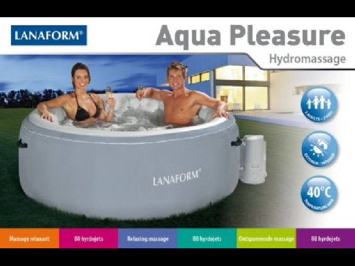 JACUZZI SPA GONFLABLE PISCINE A BULLES LANAFORM