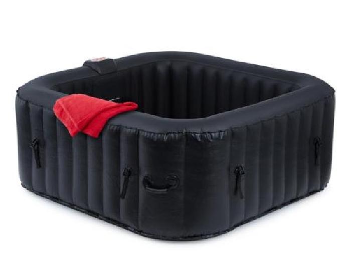spa gonflable jacuzzi bain remous chauffant carr 600l hydro massage 4 personnes spa jacuzzi. Black Bedroom Furniture Sets. Home Design Ideas