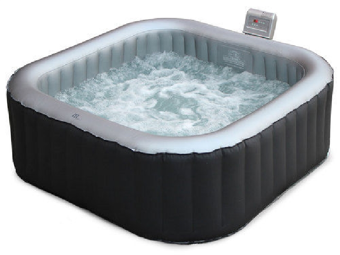 spa gonflable carr toronto anthracite 6 personnes 185cm jacuzzi avec pompe i spa jacuzzi. Black Bedroom Furniture Sets. Home Design Ideas