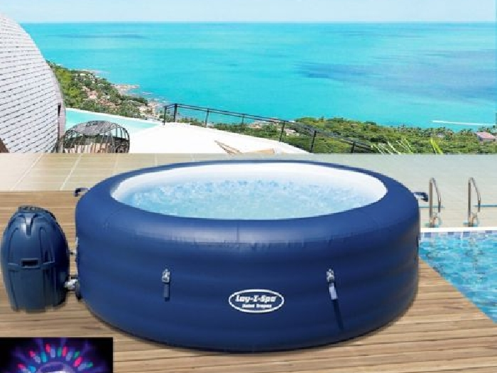 bestway jacuzzi gonflable de jardin lay z spa saint tropez 196 x 61 cm spa jacuzzi. Black Bedroom Furniture Sets. Home Design Ideas