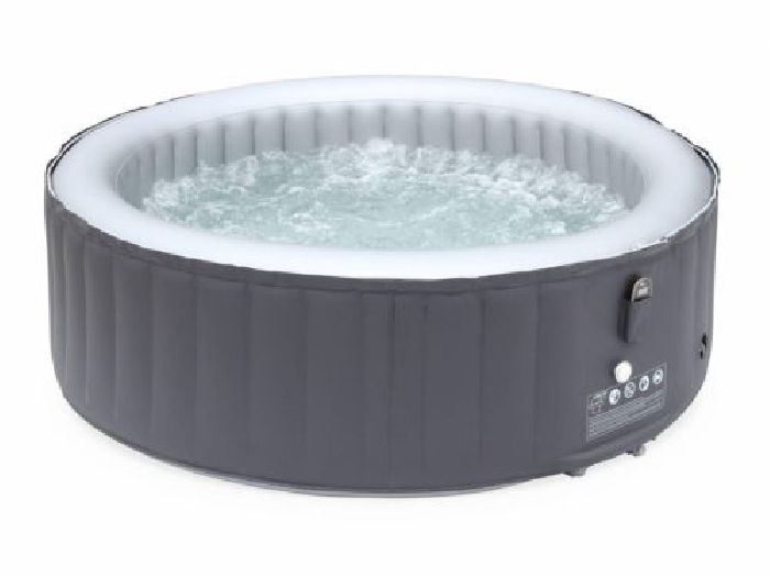 spa gonflable rond silver cloud 6 gris mod le 2018 jacuzzi 6 personnes ron spa jacuzzi. Black Bedroom Furniture Sets. Home Design Ideas