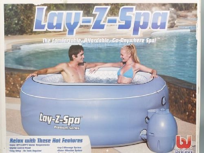 Spa gonflable Bestway Lay z spa   2 a 4 places Bleu 97402 - Neuf
