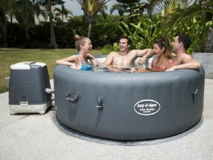 Bestway Lay-Z-Spa Cuve Thermale Palm Springs HydroJet Spa Gonflable Sauna