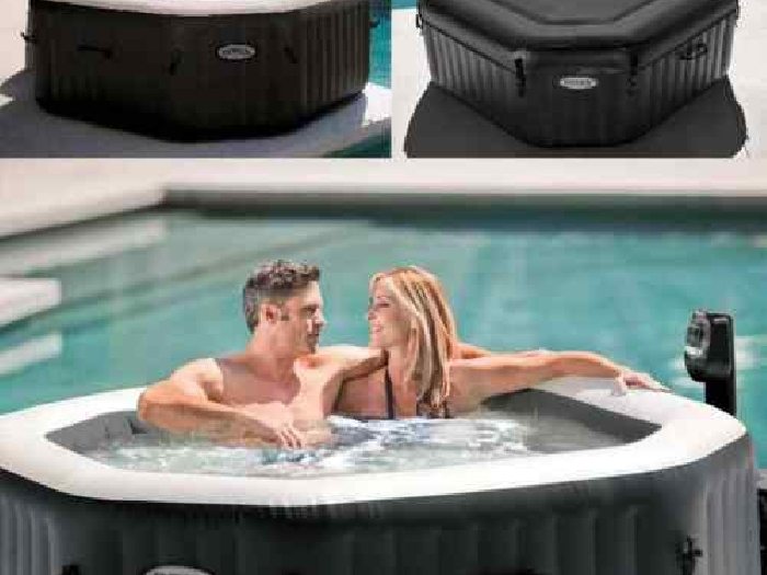Intex Spa PureSpa Jet&Bubble Deluxe Gonflable Patio Terrasse Jardin Baignoire