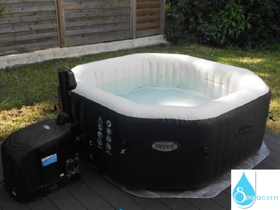 Spa gonflable octogonal jets et bulles intex spa jacuzzi - Jacuzzi gonflable occasion ...