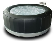 Spa rond simili-cuir gonflable - 6 places - noir