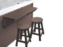 Bar + 2 tabourets pour spa - Marron