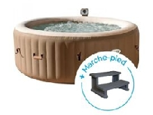 Spa gonflable Intex PureSpa Bulles 4 personnes + Marche-pied