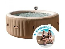 Spa gonflable Intex PureSpa Bulles 4 personnes + Entourage gonflable