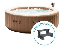 Spa gonflable Intex PureSpa Bulles 6 personnes + Marche-pied
