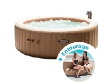 Spa gonflable Intex PureSpa Bulles 6 personnes + Entourage gonflable