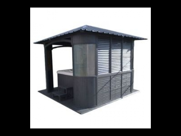 pavillon de jardin pour spa gazebo spa jacuzzi. Black Bedroom Furniture Sets. Home Design Ideas