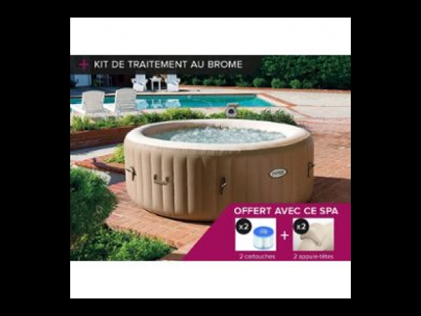 spa gonflable intex purespa rond bulles 4 places kit brome spa jacuzzi. Black Bedroom Furniture Sets. Home Design Ideas