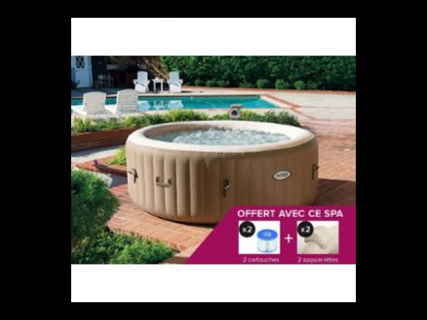 spa gonflable intex purespa rond bulles 4 places spa jacuzzi. Black Bedroom Furniture Sets. Home Design Ideas