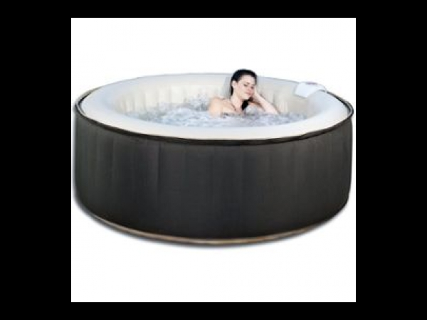 spa gonflable led nice en pvc 6 places noir cr me spa jacuzzi. Black Bedroom Furniture Sets. Home Design Ideas