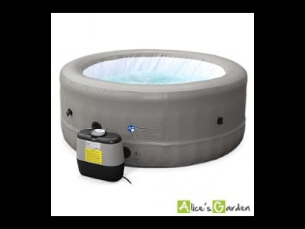 spa gonflable rond montr al cuir taupe 4 personnes 166cm jacuzzi avec pompe chauffage. Black Bedroom Furniture Sets. Home Design Ideas