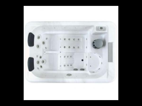 Spa caprice 3 places couverture thermique habillage gris acrylique blan - Couverture thermique spa ...