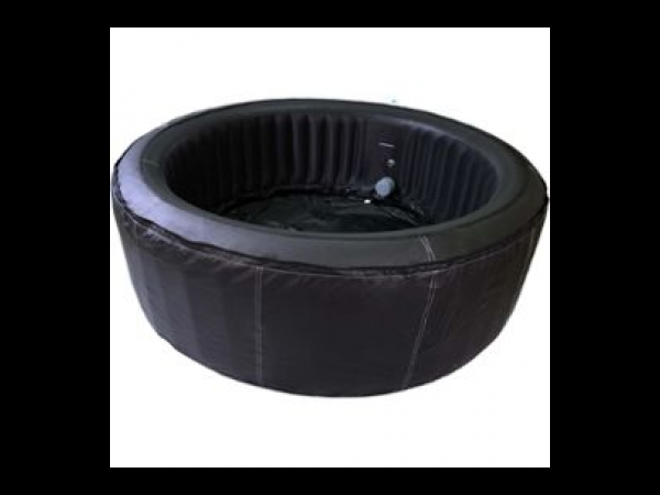 SPA GONFLABLE CANNES EN PVC - 6 PLACES - NOIR UNI