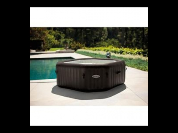 Intex pure spa octogonal gonflable a jets 6 places 216x71cm marron spa ja - Spa gonflable a vendre ...