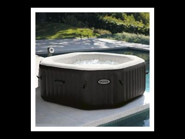 Pure spa octogonal jets et bulles intex 6 places oogarden spa jacuzzi - Spa gonflable a vendre ...