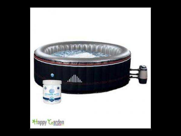 spa rond gonflable montana 6 places noir kit de traitement de l 39 eau spa jacuzzi. Black Bedroom Furniture Sets. Home Design Ideas