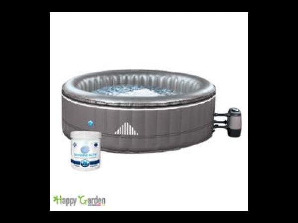 spa rond gonflable malibu 6 places taupe kit traitement de l 39 eau spa jacuzzi. Black Bedroom Furniture Sets. Home Design Ideas