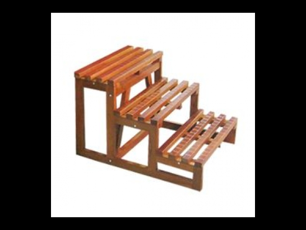 escalier 3 marches pour spa spa jacuzzi. Black Bedroom Furniture Sets. Home Design Ideas