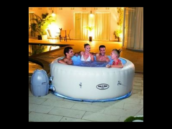 spa gonflable led bestway lay z spa paris air jet spa jacuzzi. Black Bedroom Furniture Sets. Home Design Ideas