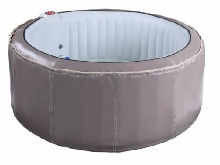 SPA gonflable 4 personnes BCOOL III - D180*H65 cm - 130 buses d'air - Gris - rev
