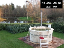 Bain Nordique (SPA Jacuzzi Bois - Hot Tube) Ø 2,06m - 2550L