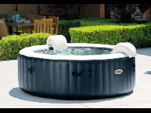 Spa Intex Gonflable INTEX Blue Navy Rond, 6 Places Assises
