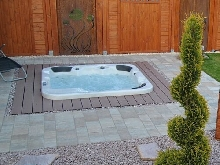Outdoor whirlpool Chaud Tub Spa Avec 40 Jjet Chauffage Ozone Désinfection 6 Gens