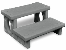 vidaXL Marches-spas Gris Escaliers 2 Marches pour Spa Escaliers Portable
