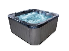 Whirlpool Chaud Tub Luxe Spa Avec Massage Chauffage Ozone 6 Gens outdoor Noir
