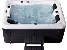 Outdoor whirlpool Avec Chauffage LED Ozone Escaliers Chaud Spa Pour 3 Personnes