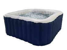 Spa gonflable jacuzzi carré bleu 6 places LS06-NA Lite Mspa