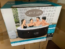 Lay Z Spa Miami 4 Person Hot Tub - 2021 Model - Freeze Shield- 120 Airjets