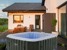 AREBOS In-Outdoor Jacuzzi Spa Piscine Spa Chauffage Gonflable Massage avec LED