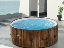 AREBOS Piscine Spa Pool | Gonflable | Chauffage | Exterieur | Ronde Drop-Stitch