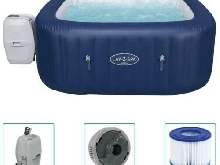 Bestway Cuve Thermale Gonflable Lay-Z-Spa Bain Hydromassant Baignoire Spa