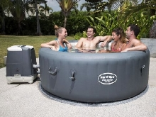 Bestway Lay-Z-Spa Cuve Thermale Palm Springs HydroJet Spa Gonflable Sauna#