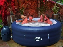 Bestway Jacuzzi Gonflable Lay-Z-Spa Saint Tropez Spa de Jardin Bain Tourbillon#