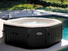 Hydromassage Jacuzzi gonflable Intex 28454 Jet de Bubble spa rectangulaire 201x7