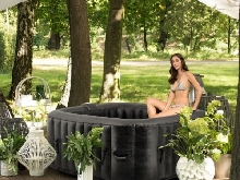 [OCCASION] Piscine gonflable carré SPA relax bain hydromassage chauffé hot tub