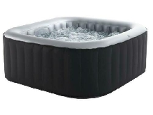 Spa gonflable carre Lite Bubble 4 places - Noir et blanc